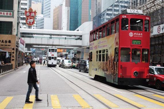 ruta de Hong Kong island en un día