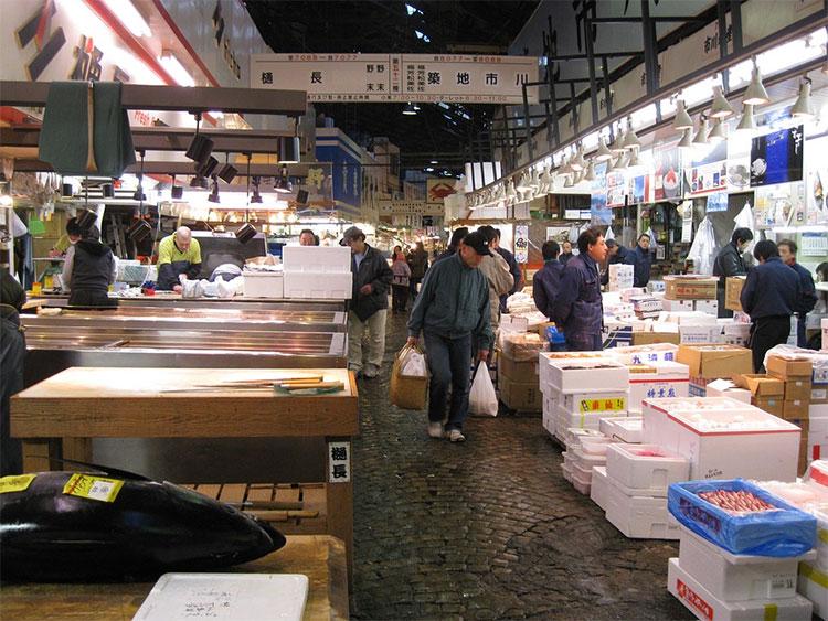 Mercado del pescado de Tsukiji