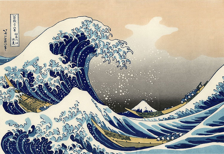 La gran ola de Kanagawa Katsushika Hokusai